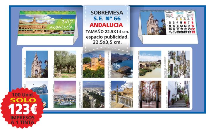 oferta calendario sobremesa Andalucía